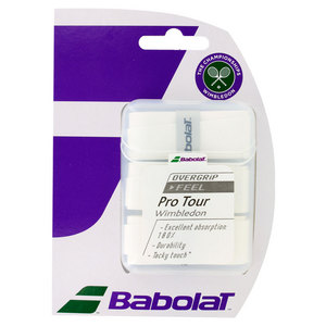 Pro Tour Wimbledon Tennis Overgrip 3 Pack White
