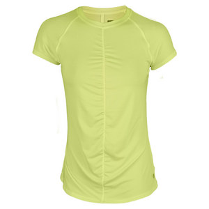 LIJA WOMENS BREATHE TENNIS TEE LEMON