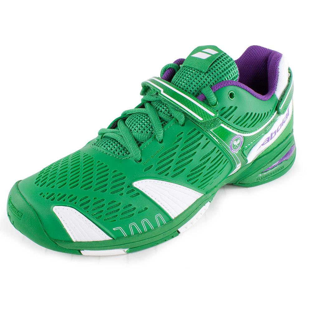 juniors propule 4 wimbledon tennis shoes green quilium