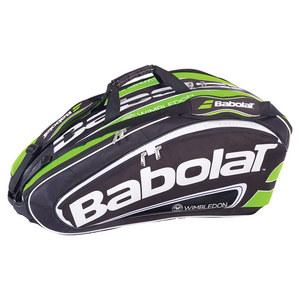 BABOLAT 2014 TEAM WIMB 12 PACK TENNIS BAG BK/GN