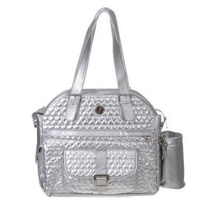 WHAK SAK ULTIMATE TOTE IM IN LOVE SILVER HEARTS