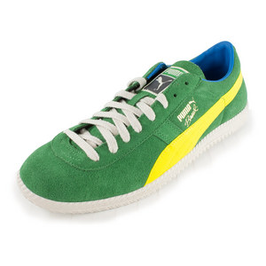 PUMA MENS BRASIL FOOTBALL VNTG SHOES MD GN/YL