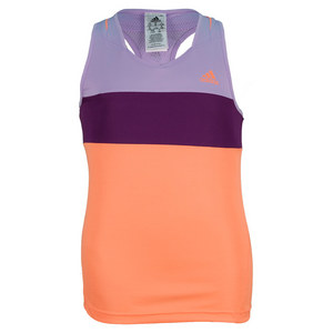 adidas GIRLS RESPONSE TANK GLOW ORANGE/GL PURP