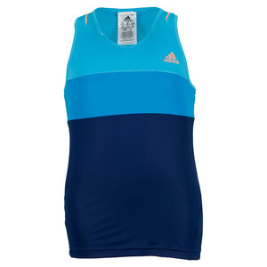 adidas GIRLS RESPONSE TANK NIGHT BL/SAMBA BLUE