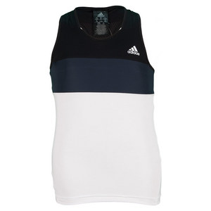adidas GIRLS RESPONSE TANK WHITE AND BLACK