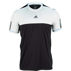 adidas MENS RESPONSE TENNIS TEE BLACK/WHITE