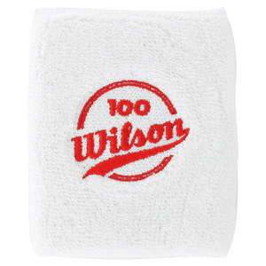 WILSON 100 YEAR DOUBLE TENNIS WRISTBANDS WHITE