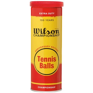 WILSON ANNIVERSARY 3 TENNIS BALL METAL CAN WH