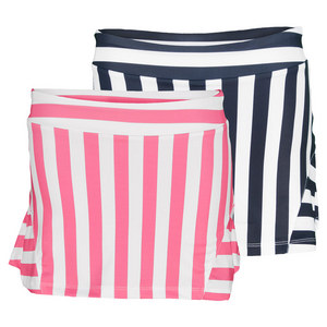 FILA GIRLS STRIPED RUFFLE BACK TENNIS SKORT