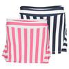 FILA Girls` Striped Ruffle Back Tennis Skort