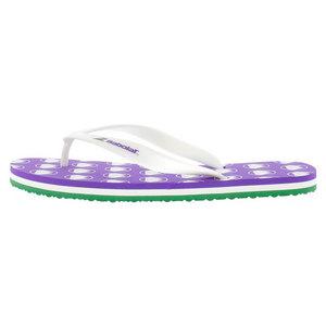 Unisex Wimbledon Flip Flops White and Purple