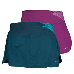 NIKE WOMENS PRINTED TWISTY RUNNING SKIRT