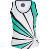 Women`s Sea Breeze Tennis Tank Mint and White by BOLLE