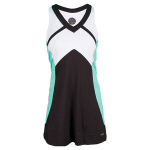 BOLLE WOMENS SEA BREEZE TENNIS DRESS BLACK/MNT