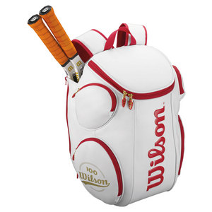 WILSON 100YR TOUR LARGE TENNIS BACKPACK WH/RD
