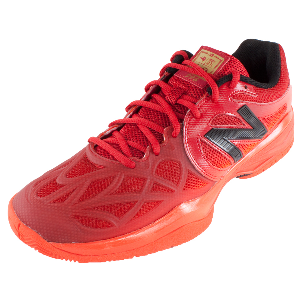 NEW BALANCE JUNIORS 996 FRENCH OPEN TENNIS SHOES RED