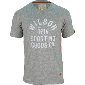 WILSON MENS CREWNECK GRAPHIC TNS TEE GRAPH HTR