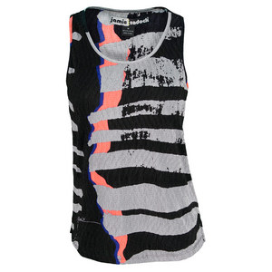 JAMIE SADOCK WOMEN`S GRAPHIC TENNIS TANK JET