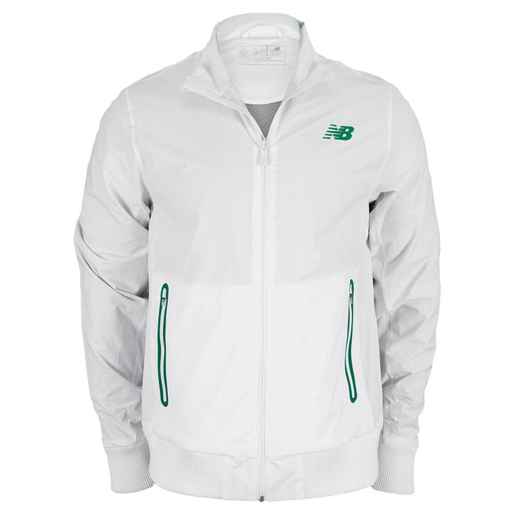 Men's Geospeed Tennis Jacket White And Green