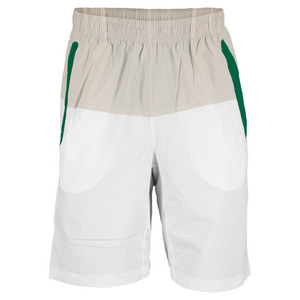 NEW BALANCE MENS APPROACH TENNIS SHORT WHITE/GREEN