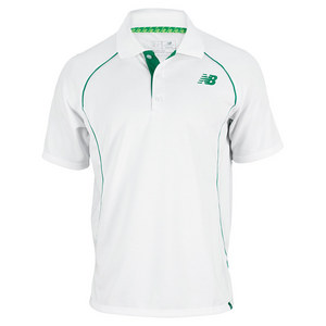 NEW BALANCE MENS BASELINE TENNIS POLO WHITE