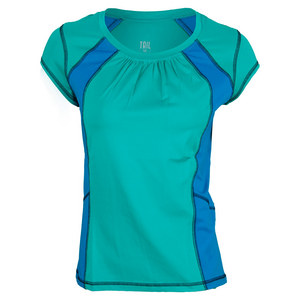 TAIL WOMENS JANETTE SS TNS TOP SEA GLSS GRN