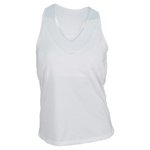 LUCKY IN LOVE WOMENS CORE V-NECK TENNIS TANK