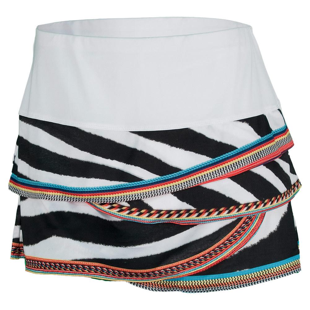 Women's Zebra Bead Tennis Skirt Print