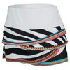 LUCKY IN LOVE Women`s Zebra Bead Tennis Skirt Print