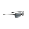 MAUI JIM Banzai Sunglasses Gloss Black and Neutral Gray