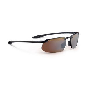 MAUI JIM KANAHA SUNGLASSES GLOSS BK/HCL BRONZE