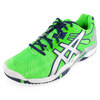 Men`s Gel Resolution 5 Tennis Shoes Neon Green and Lightning by ASICS