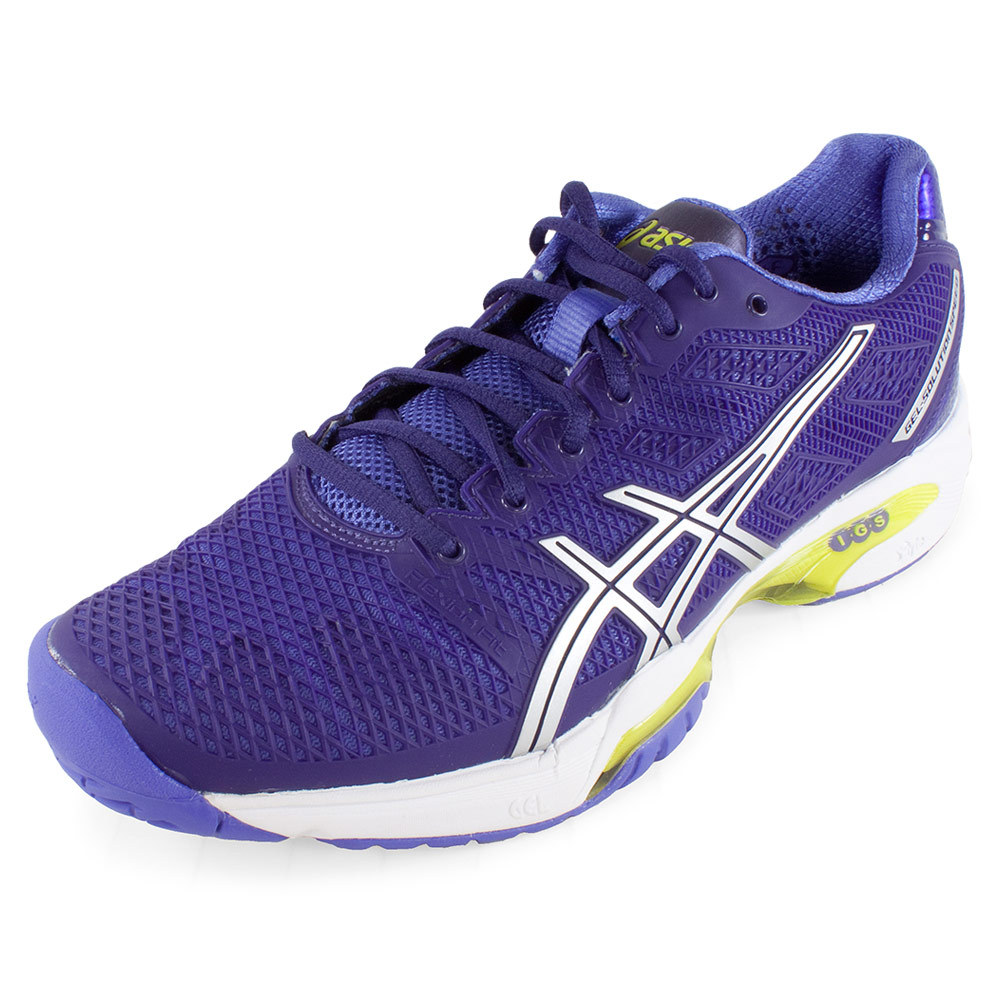 s gel solution speed 2 tennis shoes purple and silver