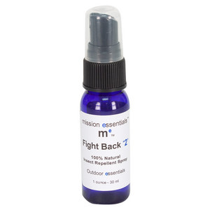 MISSION ESSENTIALS FIGHT BACK 2 NATURAL BUG REPELLENT 1 OZ