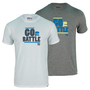 WILSON MENS BATTLE WON TECH TENNIS TEE