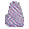 LIFE IS TENNIS Pastel Plaid Small Sling Tennis Bag With Convertible Strap