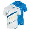 WILSON Men`s Cardiff Blur Stripe Tennis Crew