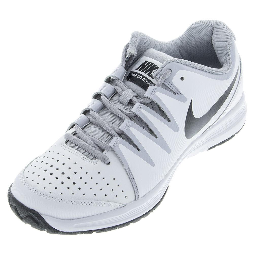 Men's Vapor Court 4e Tennis Shoes White And Wolf Gray