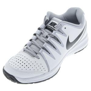 Men`s Vapor Court 4E Tennis Shoes White and Wolf Gray