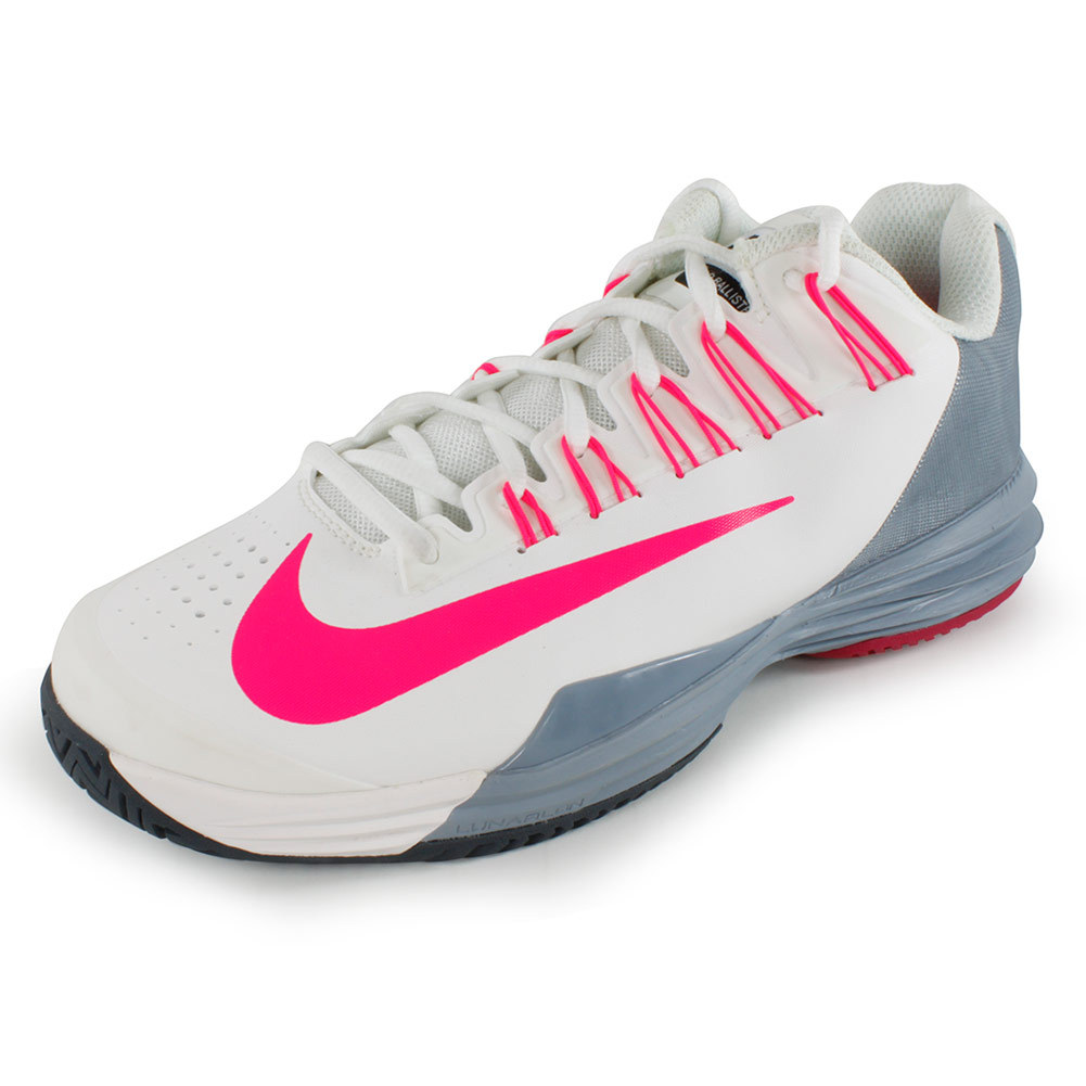 Nike Tennis Shoes White With Coral Yellow Pink