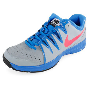 NIKE MENS VAPOR COURT TNS SHOES LT MAG GY/BL