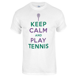 TENNIS EXPRESS KEEP CALM PLAY TENNIS TEE WHITE
