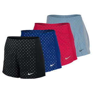 NIKE WOMENS PRINTED WOVEN TENNIS SHORT