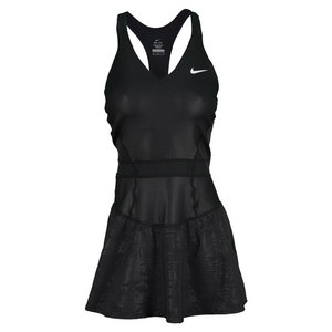 NIKE WOMENS MARIA NIGHT TENNIS DRESS BLACK