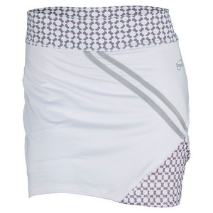 DOUE WOMENS PRINTED TENNIS SKORT WHITE