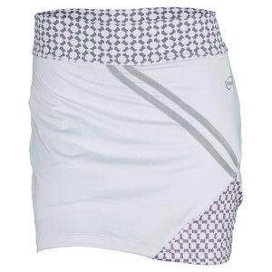 Women`s Printed Tennis Skort White