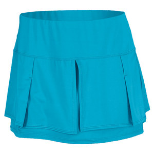 LUCKY IN LOVE WOMENS PLEAT LAYER TENNIS SKIRT OCEAN BL