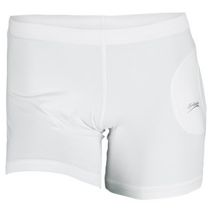SOFIBELLA WOMENS BALL POCKET TENNIS SHORT WHITE