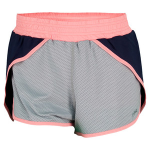 SOFIBELLA WOMENS TENNIS SHORT NAVY/SILVER MESH