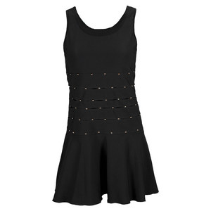 ELIZA AUDLEY WOMENS PATINA TENNIS DRESS BLACK